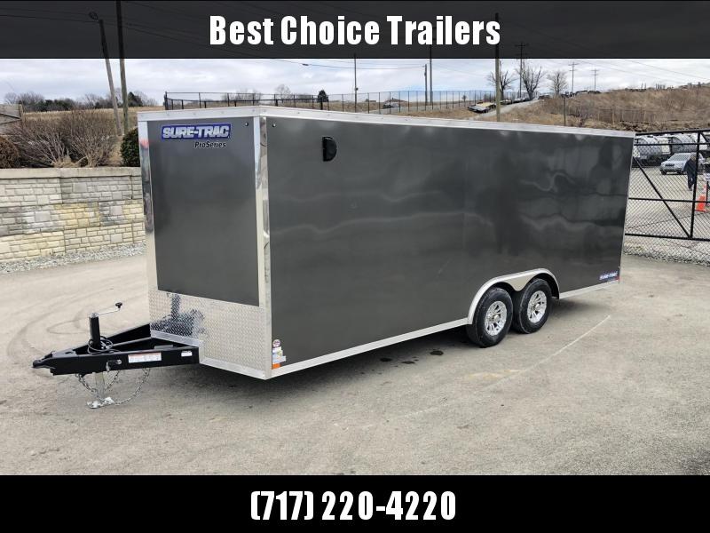 2019 Sure-Trac 8.5x20' Enclosed Car Trailer 9900# GVW * WHITE * 7K DROP LEG JACK