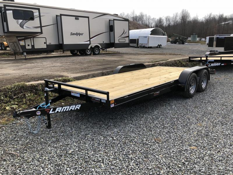 2018 Lamar 7x18' CE Wood Deck Car Trailer 7000# GVW