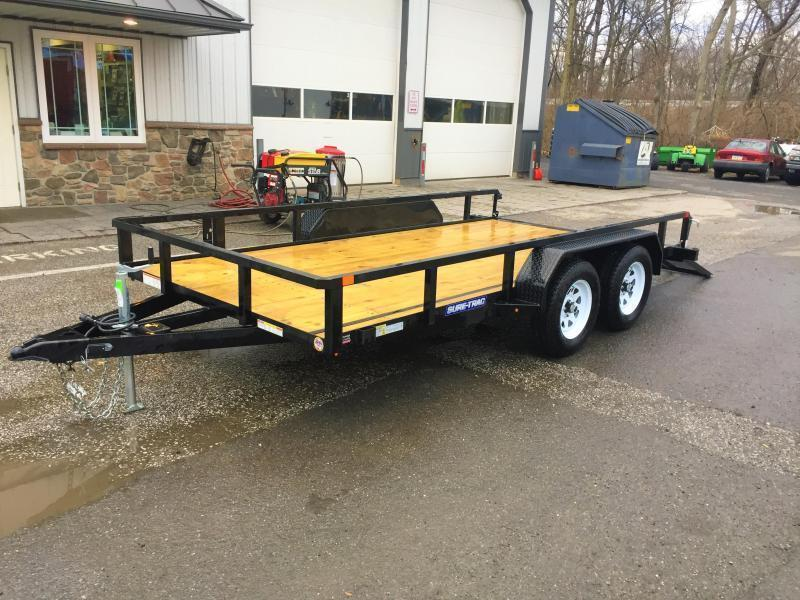 2018 Sure-Trac 7x16' Tube Top Utility Trailer 7000#