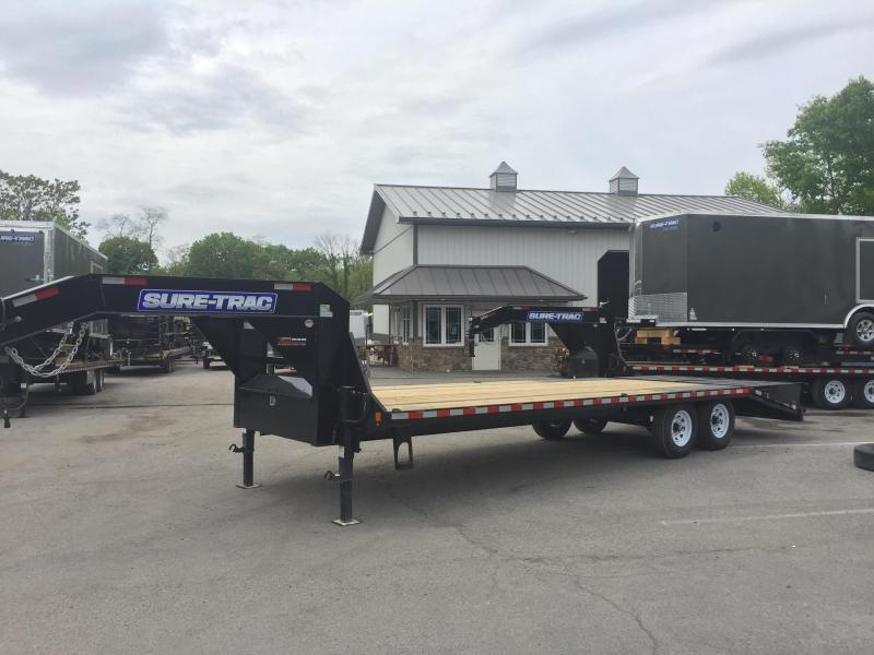 2017 Sure-Trac 102x20+5 15000# Gooseneck Beavertail Deckover Trailer PIERCED FRAME FULL WIDTH RAMPS