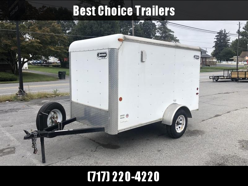 USED 2008 Car Mate 5x10' Enclosed Cargo Trailer 2990# * SIDE DOOR * SPARE TIRE * E-TRACK