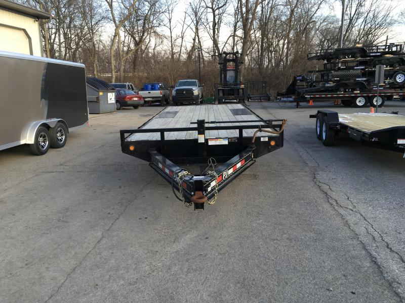 2016 PJ 102x20' Flatbed Deckover 14000# GVW Slide In Ramps