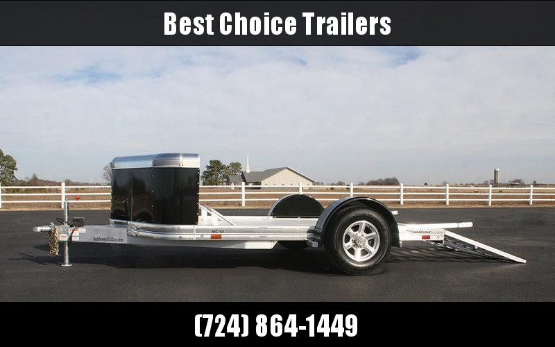 2018 Sundowner 7x12' All Aluminum Deluxe Motorcycle Trailer 4025# GVW MC12 * ALL ALUMINUM * EXTRUDED FLOOR * PAINTED FENDERS * SPARE TIRE * BRAKES
