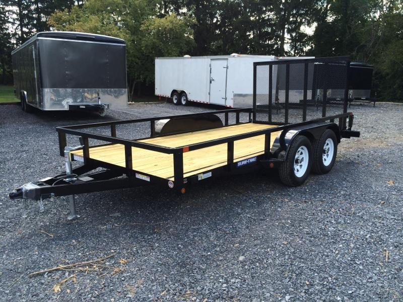 2018 Sure-Trac 7x14' Tube Top Utility Trailer 7000# GVW