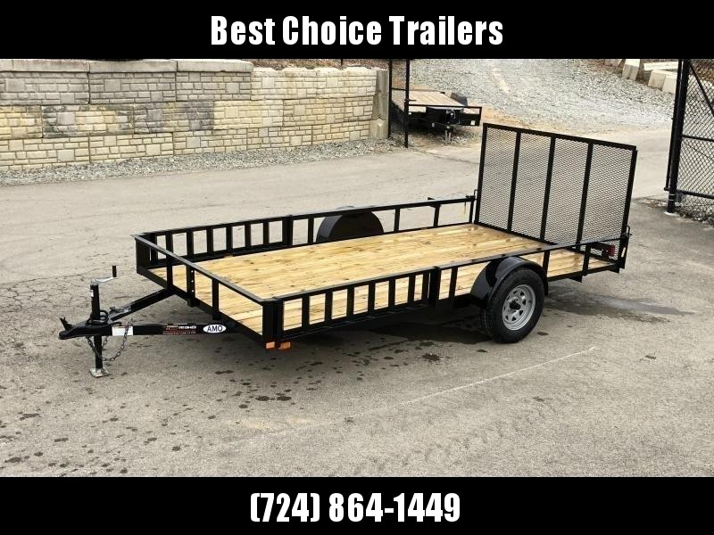 2019 AMO 7x14' Angle Iron Utility Landscape Trailer 2990# GVW w/ Gate * ATV RAMPS * FULL WRAP TONGUE * LED TAIL LIGHTS