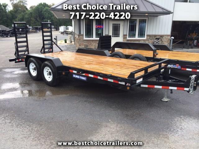 2016 Sure-Trac Implement 7'x18' 14000# Equipment Trailer
