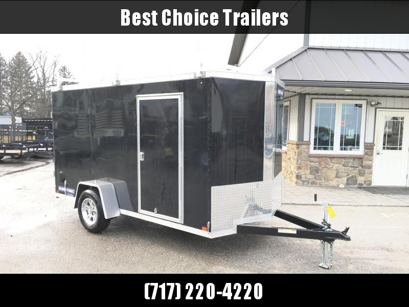 2018 Sure-Trac 6x12' STW Enclosed Cargo Trailer 2990# GVW * BLACK * BARN DOORS * 3 LADDER RACKS * CLEARANCE