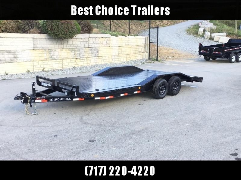 "2019 Iron Bull 102""x20' Steel Deck Car Trailer 9990# GVW * 102"" DECK * DRIVE OVER FENDERS * BUGGY HAULER * STEEL DECK * HD FRAME * 7000# AXLE UPGRADE * CLEARANCE - FREE ALUMINUM WHEELS"