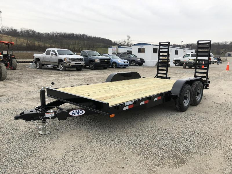 2018 AMO 7x16' Equipment Trailer 9990# GVW