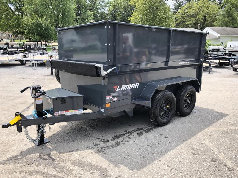 2018 Lamar 5x10' DS60 Dump Trailer 7000# GVW - DELUXE * 12K JACK * RAMPS * TARP * SPARE & MOUNT * 2' HIGH SIDES * 2' SOLID EXTENSIONS * VOLT METER