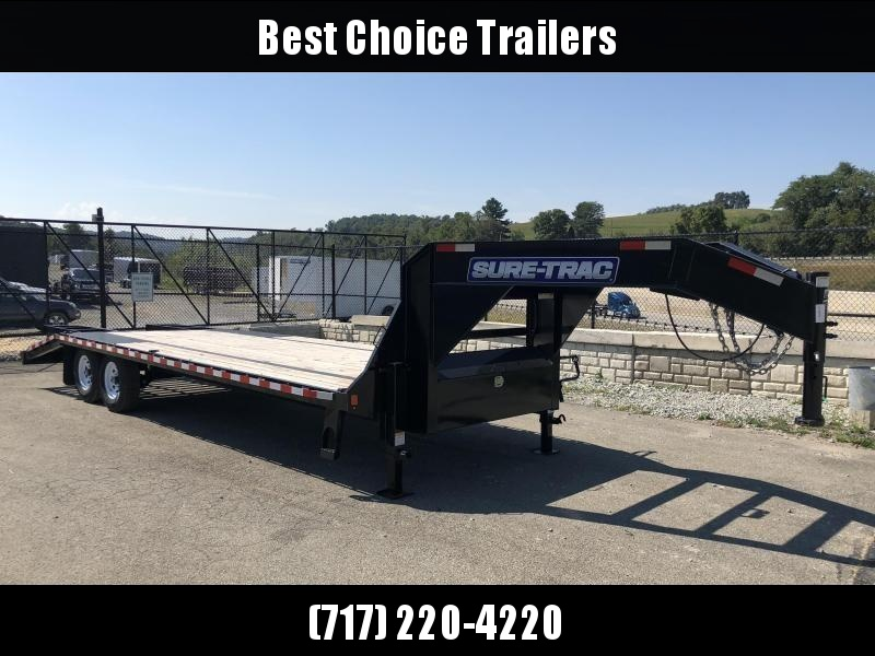 2018 Sure-Trac 102x20+5' Gooseneck Beavertail Deckover Trailer 15000# GVW * PIERCED FRAME * 2 SPEED JACKS * CLEARANCE - FREE ALUMINUM WHEELS