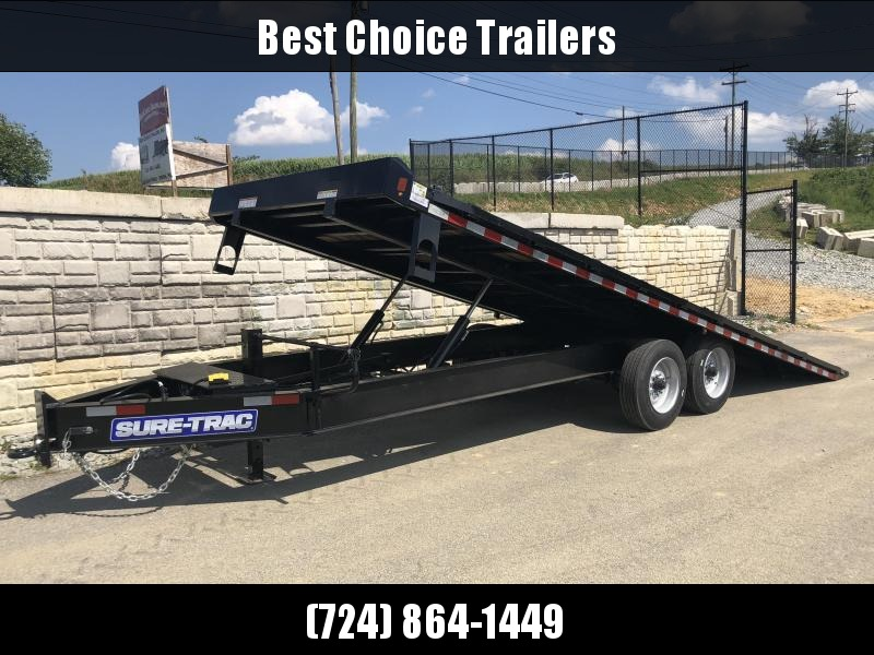 2018 Sure-Trac 102x22' Power Tilt Deckover 17600# GVW * WINCH PLATE * OAK DECK