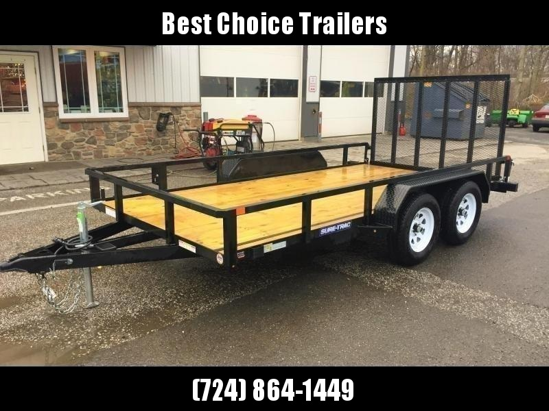 2018 Sure Trac 7x16' Tube Top Utility Landscape Trailer 7000# GVW  * CURB SIDE GATE * CLEARANCE - FREE ALUMINUM WHEELS