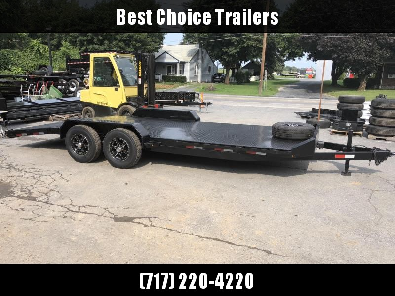 2017 Sure-Trac 7x20' Steel Deck Car Hauler 9900# GVW - LOW LOAD ANGLE * ALUMINUM WHEELS * ALUMINUM SPARE