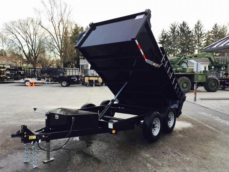 2017 QSA 6x10' 9850# Low Profile SD Dump Trailer