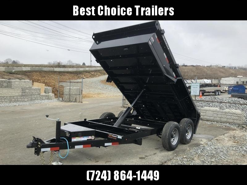 2018 Lamar 77x12' DM LowPro Dump Trailer 9990# - STANDARD * RAMPS  * SPARE MT * CHARCOAL * TARP KIT * CLEARANCE