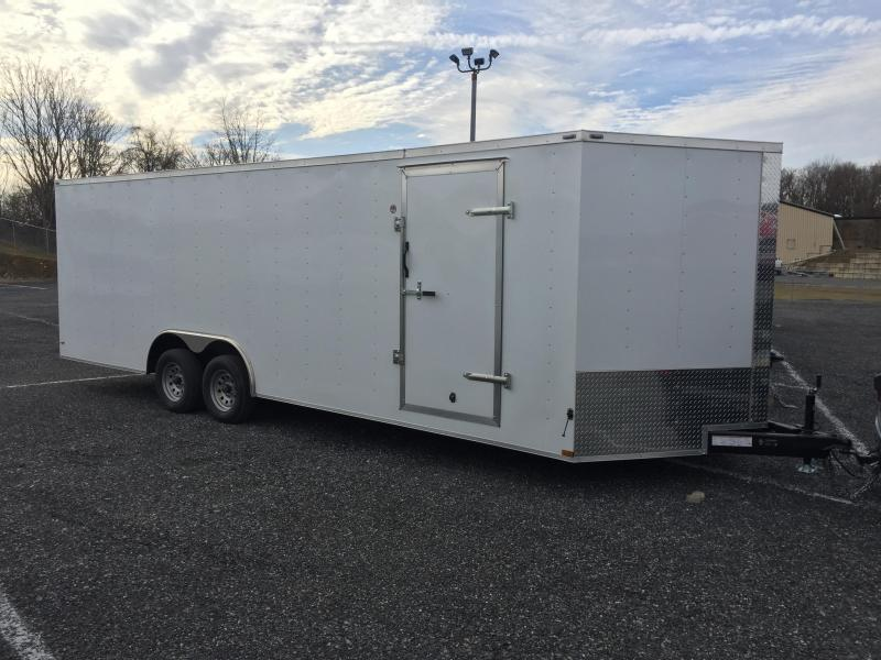 2017 Lark 8.5x24 V-Nose Enclosed Car Hauler 7000# GVW