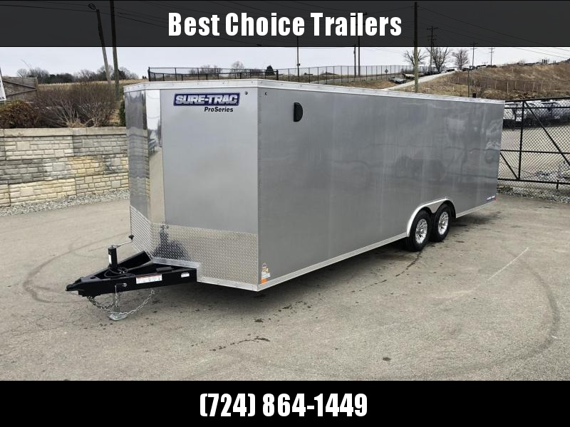 2019 Sure-Trac 8.5x24' Enclosed Car Trailer 9900# GVW * SILVER
