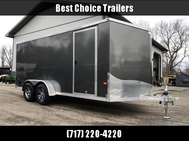 2019 Neo 7x16 NAVF Aluminum Enclosed Cargo Trailer * RAMP DOOR * SIDE VENTS * ALUMINUM WHEELS