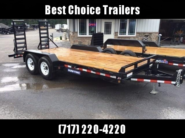 2018 Sure-Trac Implement 7'x20' Equipment Trailer 14000# GVW * CLEARANCE - FREE ALUMINUM WHEELS