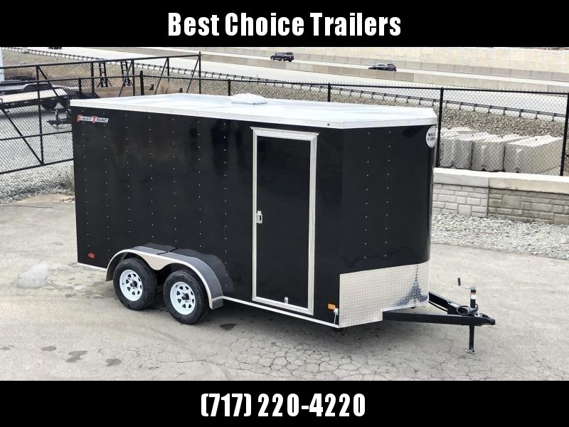 2019 Wells Cargo 7x16' Fastrac Enclosed Cargo Trailer 7000# GVW * WHITE * RAMP DOOR * V-NOSE