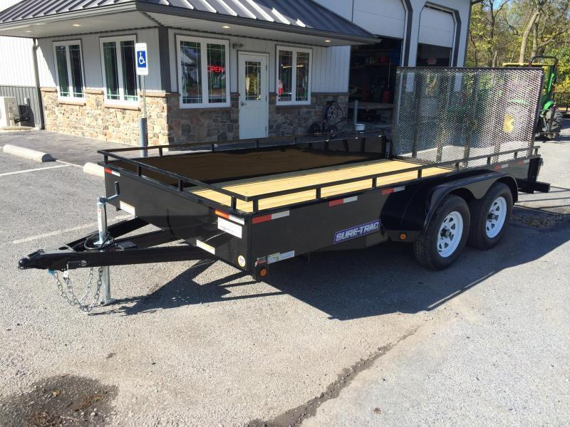 2018 Sure-Trac 7x14' Steel High Side Landscape Utility Trailer 7000# GVW