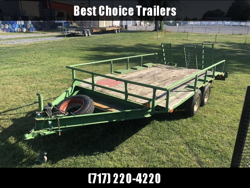 USED Hudson 102x18' Beavertail Flatbed Deckover Trailer * 3 RAMPS * SPARE TIRE