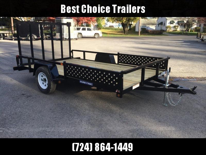 2018 Sure-Trac 7x14' Tube Top Utility Trailer 2990# GVW - ATV RAMPS * CLEARANCE - FREE ALUMINUM WHEELS