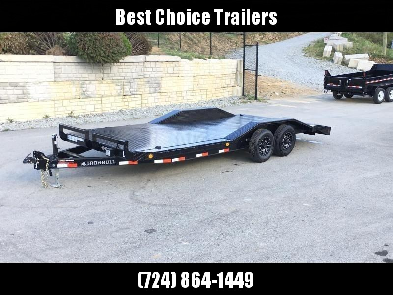 "2019 Iron Bull 102""x20' Steel Deck Car Trailer 9990# GVW * 102"" DECK * DRIVE OVER FENDERS * BUGGY HAULER * STEEL DECK * HD FRAME * ALUMINUM WHEELS"