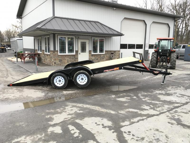2018 H&H 7x18' MXC Manual Tilt Car Trailer 7000# GVW