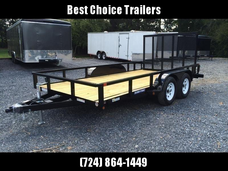 2019 Sure-Trac 7x14' Tube Top Utility Landscape Trailer 7000# GVW