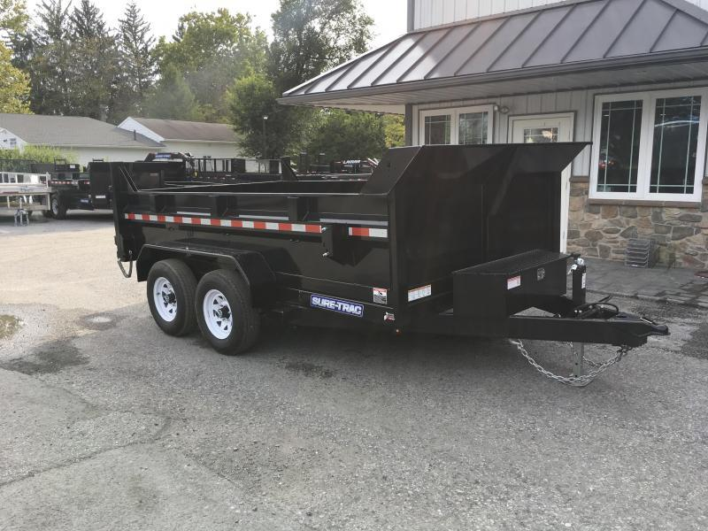 2018 Sure-Trac 7x12' LowPro Dump Trailer 9900# DUAL PISTON - BASE