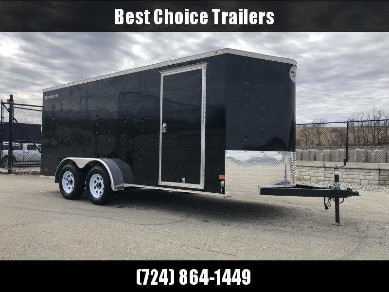 2019 Wells Cargo 7x16' Fastrac Enclosed Cargo Trailer 7000# GVW * BLACK * RAMP DOOR * V-NOSE