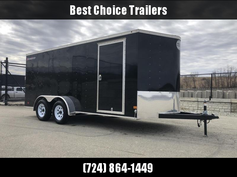 2019 Wells Cargo 7x16' Fastrac Enclosed Cargo Trailer 7000# GVW * BLACK * RAMP DOOR * V-NOSE