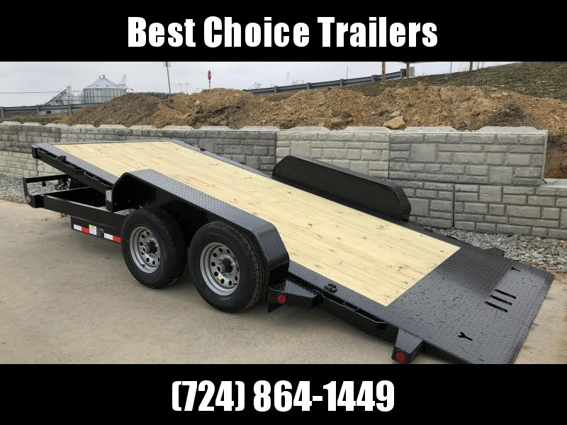 2018 Iron Bull 7x16' Equipment Trailer 9990# GVW - POWER TILT