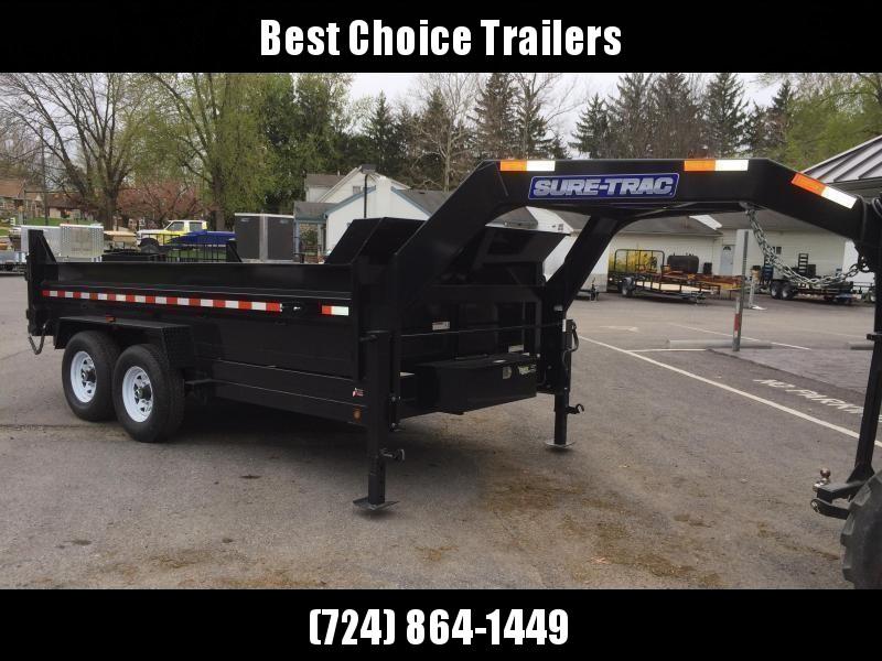 2019 Sure-Trac 7x14' Gooseneck Dump Trailer 14000# GVW