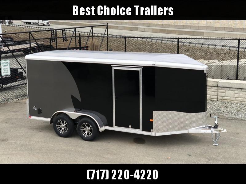 2019 NEO Trailers 7X14' NAMR Aluminum Enclosed Motorcycle Trailer * BLACK * CHARCOAL * VINYL WALLS * ALUMINUM WHEELS
