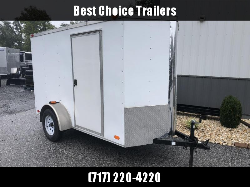 USED 2014 Victory Enclosed Cargo Trailer 5x10' Ramp Door 2900# * EXTRA HEIGHT * SIDE DOOR