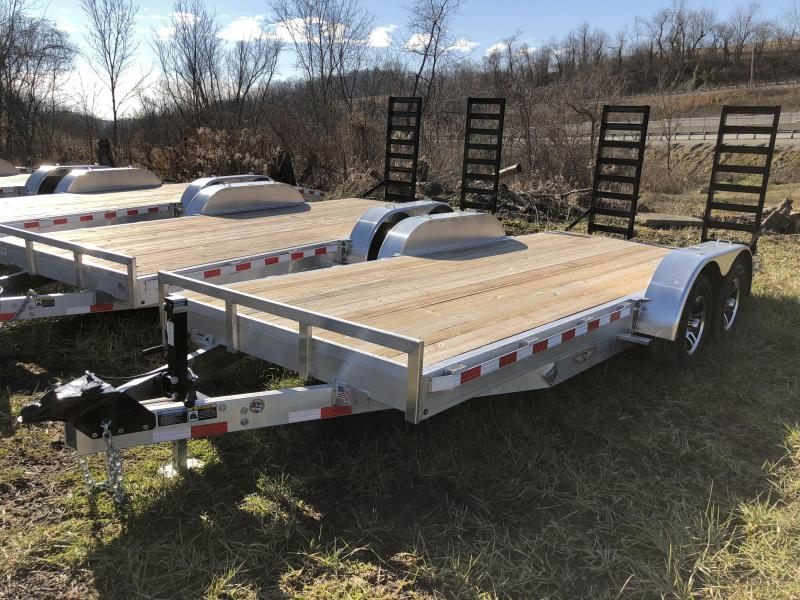 2017 H&H 7x18' Aluminum Equipment Trailer 9990# GVW - TORSION AXLES
