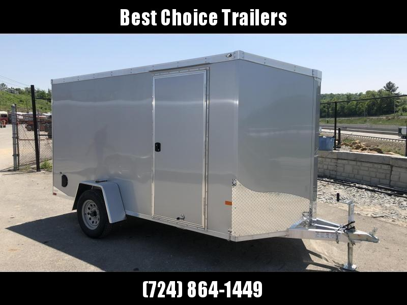 2019 Neo 6x12' NAVF Aluminum Enclosed Cargo Trailer * RAMP DOOR * SILVER * ALUMINUM WHEELS