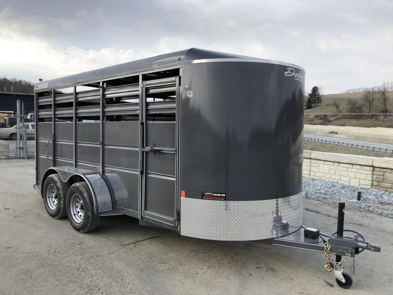 2018 Delta 500ES 16' Livestock Trailer 7000# GVW
