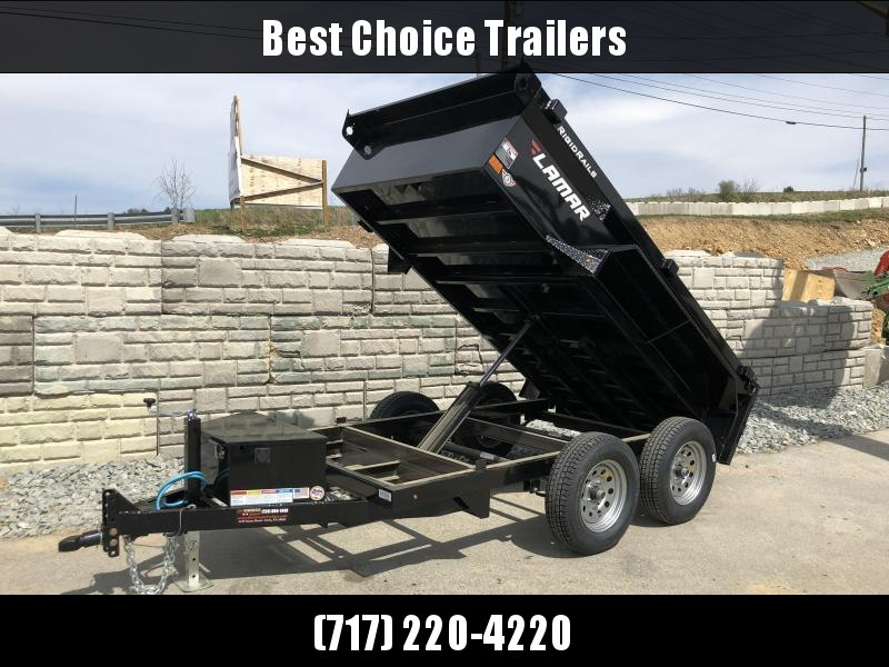 2018 Lamar 5x10' Tandem Axle DS60 Dump Trailer 7000# GVW - STANDARD * SPARE MOUNT * RAMPS * CHARCOAL W/ BLACK WHEELS
