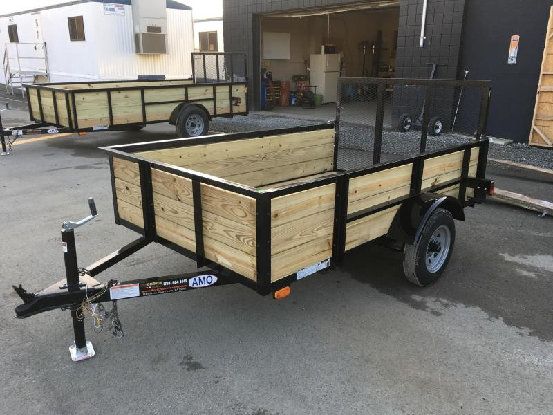 2018 AMO 5x8' Wood Side Utility Trailer 2200# GVW