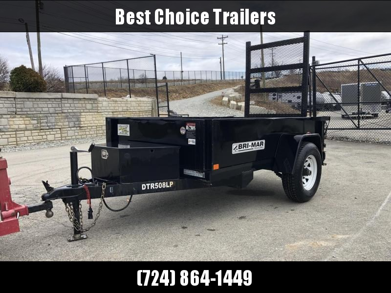 USED 2017 Bri-Mar 5x8' 5000# GVW Dump Trailer * RAMP * D-RINGS