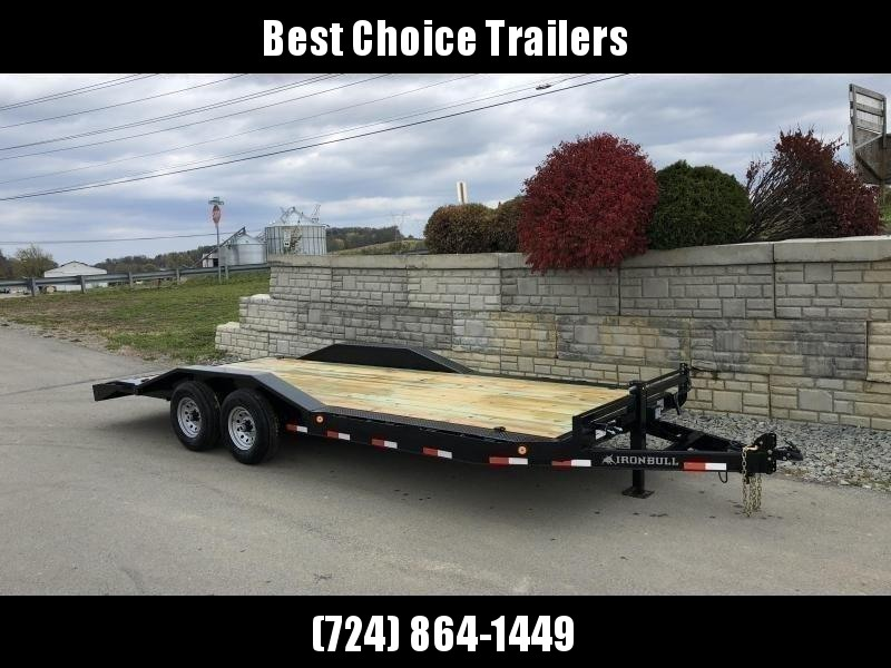 "2019 Iron Bull 102""x22' Wood Deck Car Trailer 14000# GVW * 102"" DECK * DRIVE OVER FENDERS"