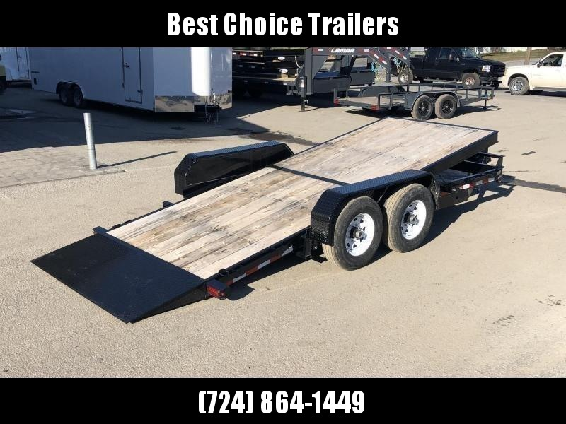 2019 Sure-Trac Tilt Bed Equipment Trailer 7'x18' 14000# * OAK DECK