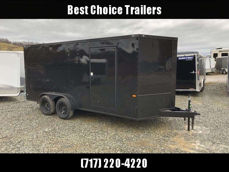 2019 Rock Solid 7x14' Enclosed Cargo Trailer 7000# GVW RS714TA * BLACKOUT PACKAGE * ATP FENDERS * RAMP DOOR