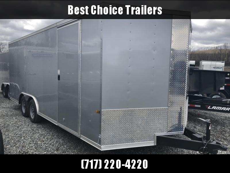 2018 Rock Solid 8.5x20' Enclosed Car Trailer 7000# GVW * BLACK