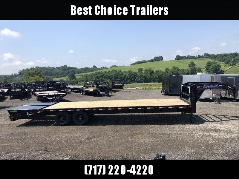 "2019 Load Trail 102x25' Gooseneck Beavertail Deckover Flatbed 14000# Trailer * GH0230072 * MAX Ramps * Dexter Axles * 12"" I-Beam * Zinc Primer * Full toolbox/Dual jacks"