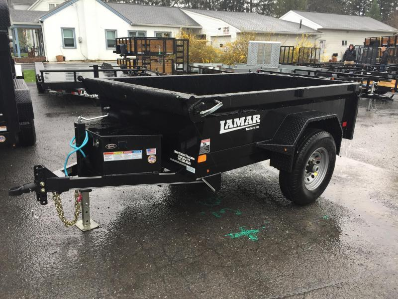 2018 Lamar 5x8' DS60 Dump Trailer 7000# GVW - SINGLE AXLE